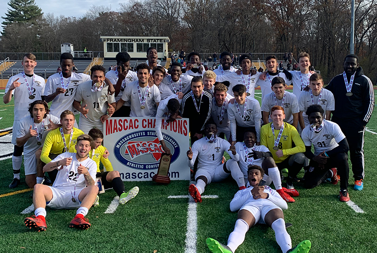 Men's Soccer Blanks Salem 1-0 in MASCAC Championship; Capture First Title Since 2011