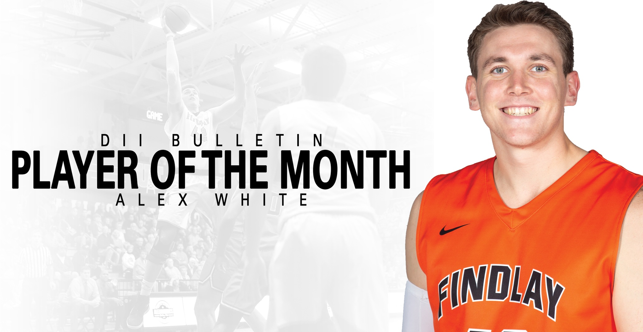 White Named DII Bulletin Player of the Month