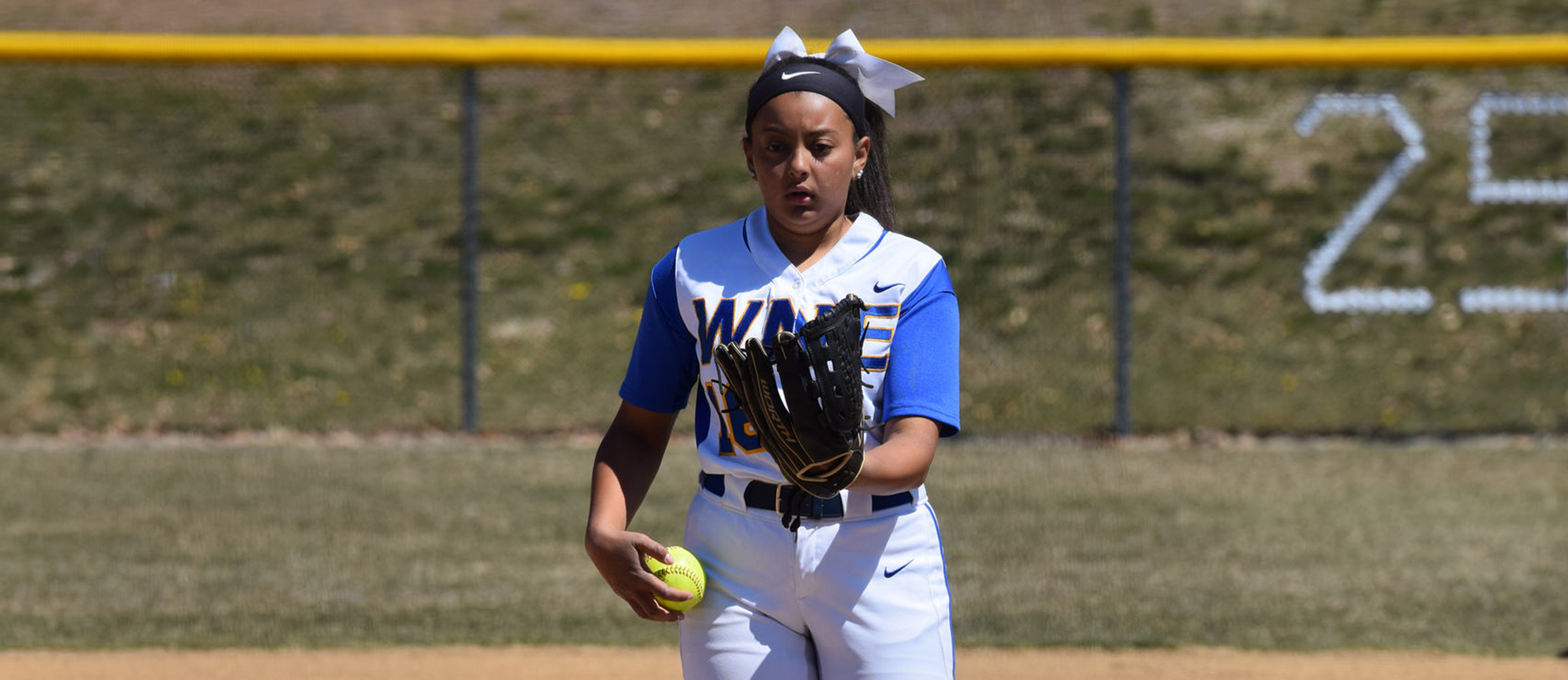 Junior Paige Uliase turned in a shutout performance in Western New England's season-opening win over Staten Island on Saturday. (Photo by Rachael Margossian)