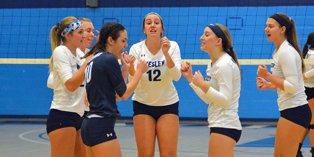 Volleyball tames Lions in three sets