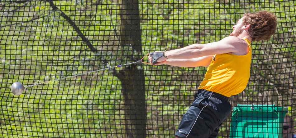 Senior All-OAC thrower Zak Dysert broke the school hammer throw record for the second consecutive week
