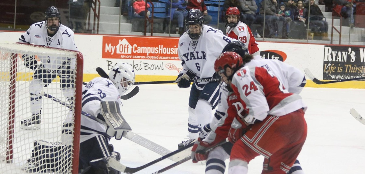 3-2 Win at RPI Moves Yale into 1st Place