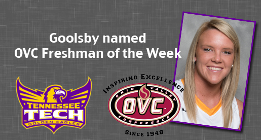 Hannah Goolsby earns OVC Freshman of the Week honors