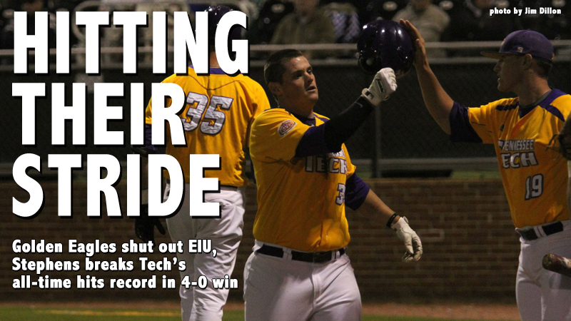 Golden Eagles shut out Eastern Illinois, Stephens breaks hits record