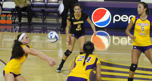 Golden Eagle volleyball team back in action at Jacksonville State