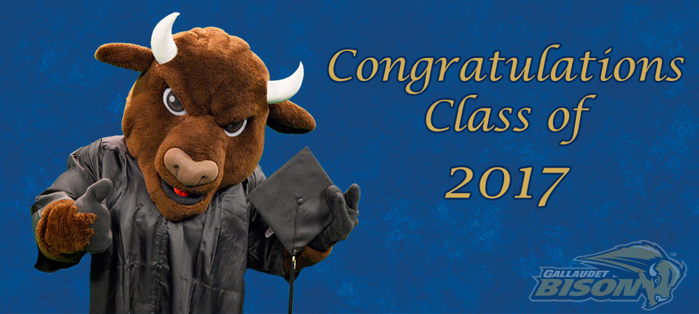 Gallaudet student-athletes, coaches, staff and managers graduate on Friday