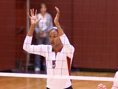 Arielle Goodson recorded a career-high 20 kills and had five blocks in the loss at Findlay.