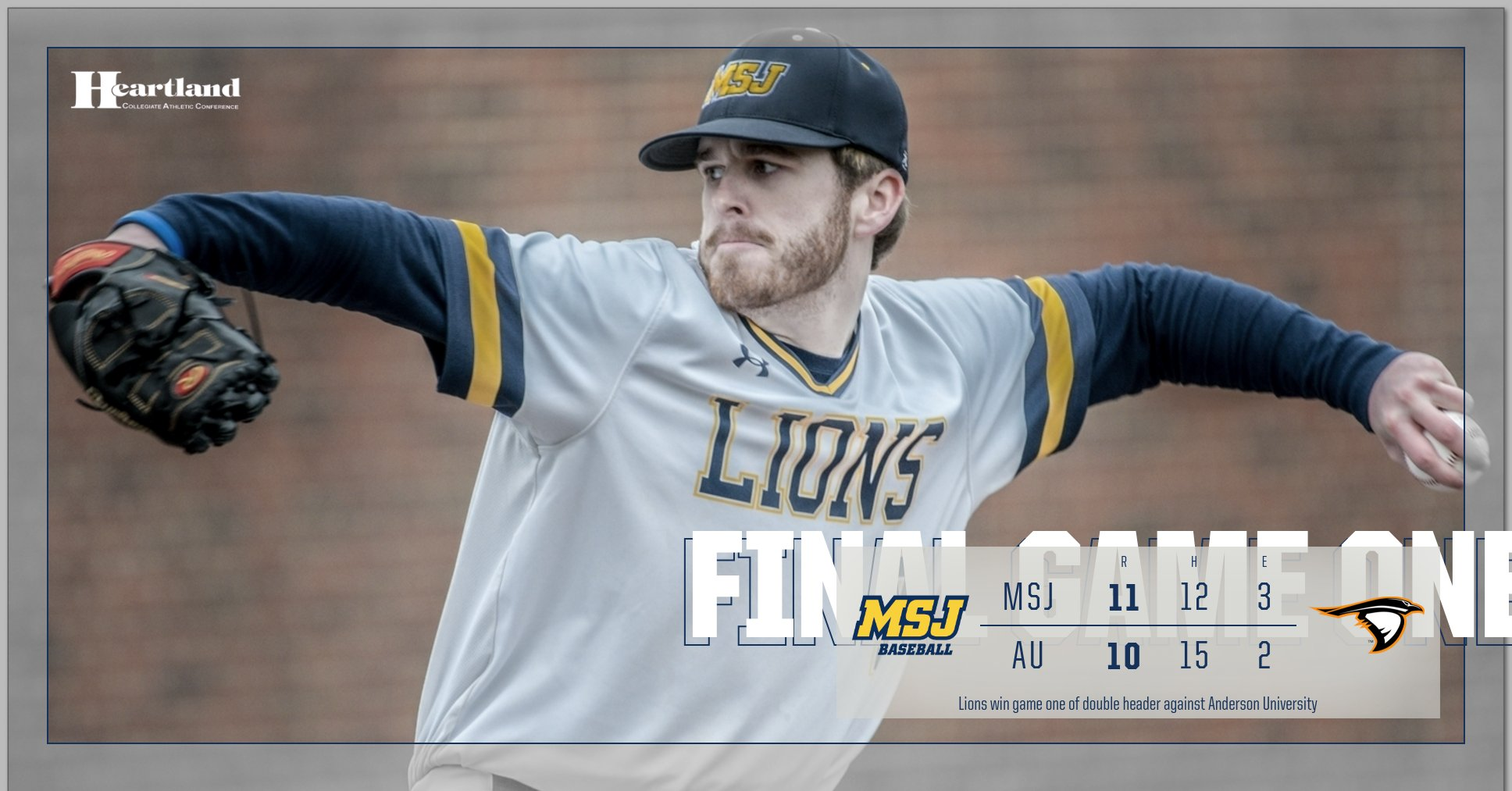 Lions Split Against Anderson University