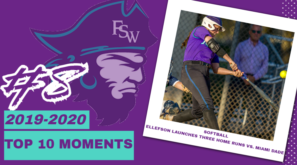 FSW Top 10 Moments of 2019-20; #8 Ellefson Blasts Three Home Runs Against Miami Dade