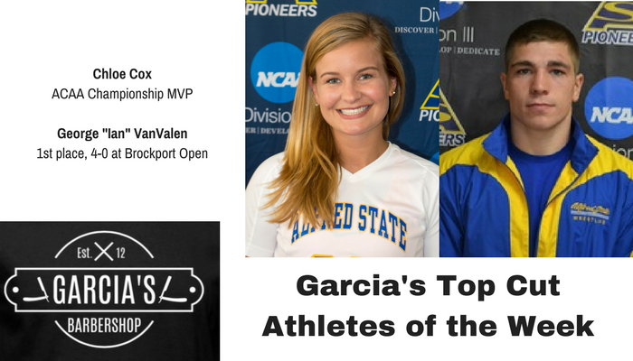 November 7th - Garcia's Barbershop Athletes of the Week