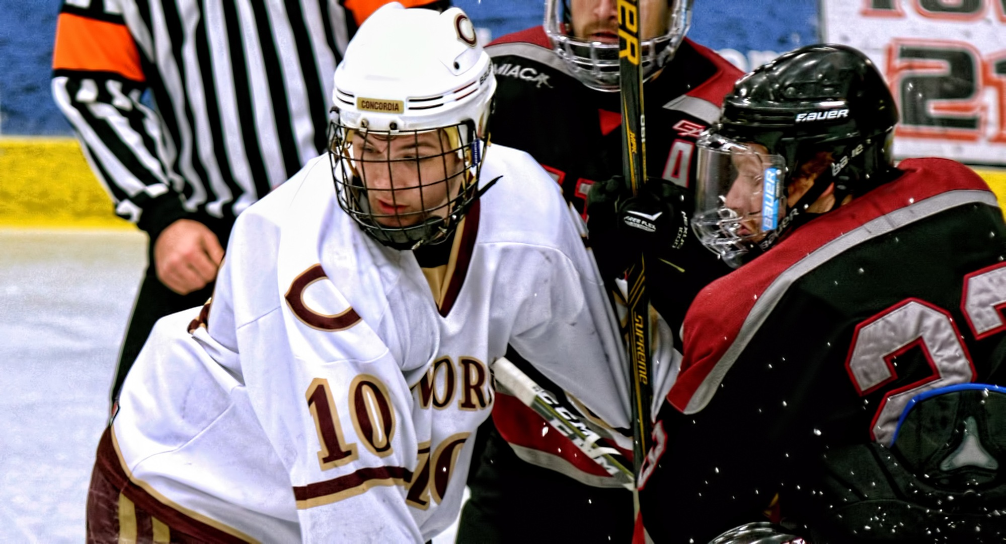 Senior captain Zach Doerring scored his second goal in as many games in the Cobbers' game with Augsburg.