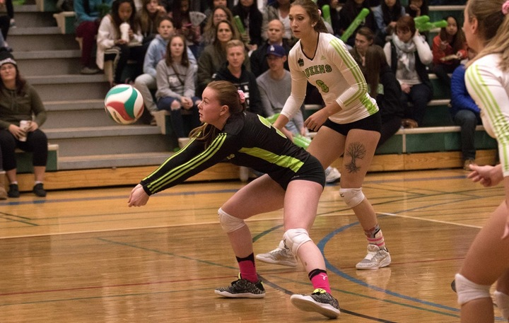 Libero Kaylee Domoney (3) was solid in the match against the Rustlers. Photo - Tony Hansen