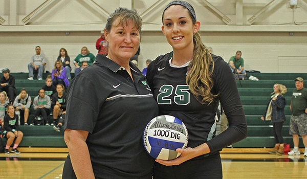 Allison Briley Records 1,000th Career Dig But Post Sweeps Wilmington Volleyball