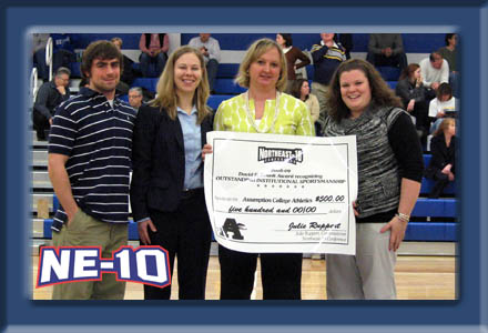 Assumption College: Northeast-10 Sportsmanship Presentation