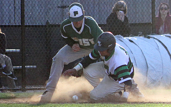 Offense Slowed in Wilmington Baseball's Regular Season Finale, Falling at Dowling, 5-1 and 3-1