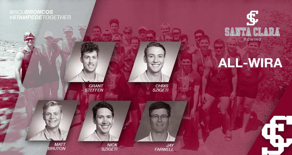 Men's Rowing Has Four Named All-WIRA, Farwell Named Coach of the Year