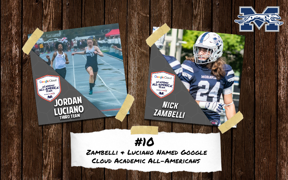Top 10 Stories of 2018-19 - #10 Jordan Luciano and Nick Zambelli Named Google Cloud Academic All-Americans.