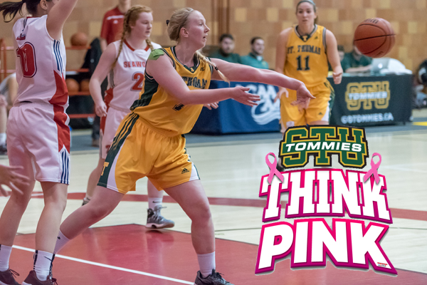 THIS WEEKEND -- Basketball and Volleyball Host Think Pink Events, Hockey and Track on the Road