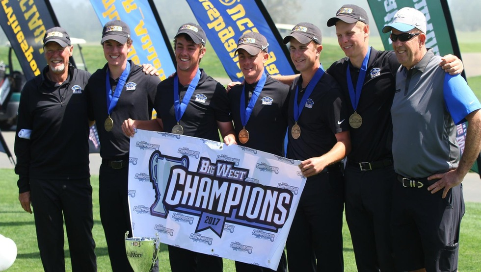 The 2017 Big West Men's Golf Tournament Champion UC Santa Barbara will travel to Stanford to play in the NCAA Regional on May 15-17. (Photo by Gerry Fall)