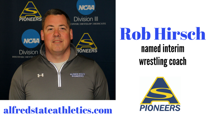 New interim head wrestling coach Rob Hirsch