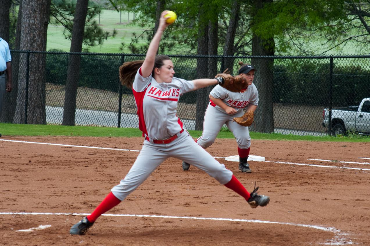Lady Hawks open softball season with pair of 1-0 losses
