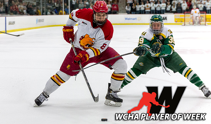 Ferris State Senior Cory Kane Tabbed As WCHA Offensive Player Of The Week