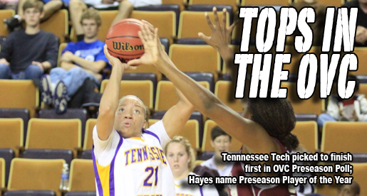 Tech picked first in OVC; Hayes named Preseason Player of the Year