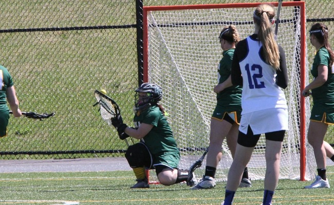 Ally Thayer (0) made 16 saves in the win for Keuka College -- Photo by Ed Webber