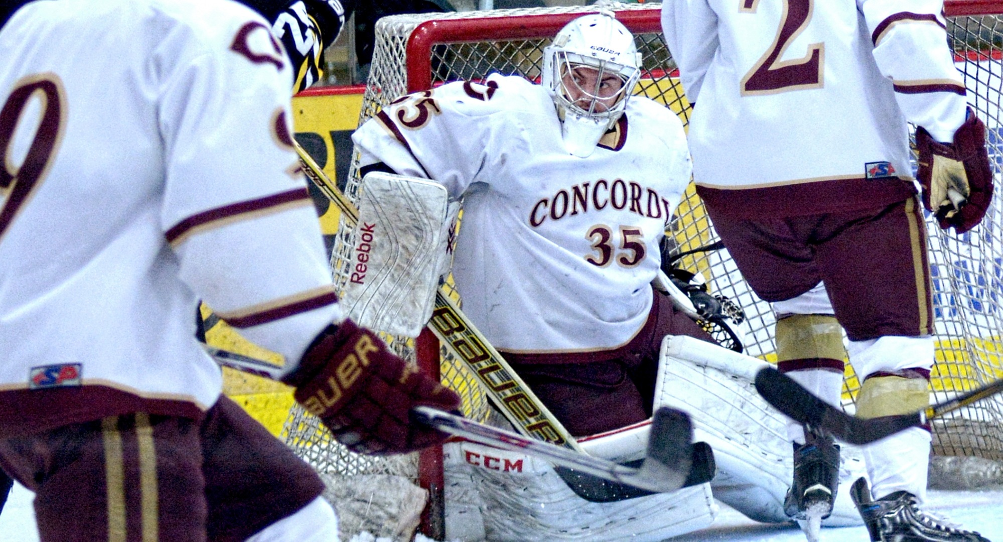 Freshman goalie Sam Nelson made 42 saves in the Cobbers' series finale at St. Thomas.