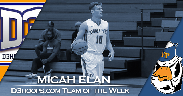 Elan of Pomona-Pitzer Named to D3hoops.com Team of the Week