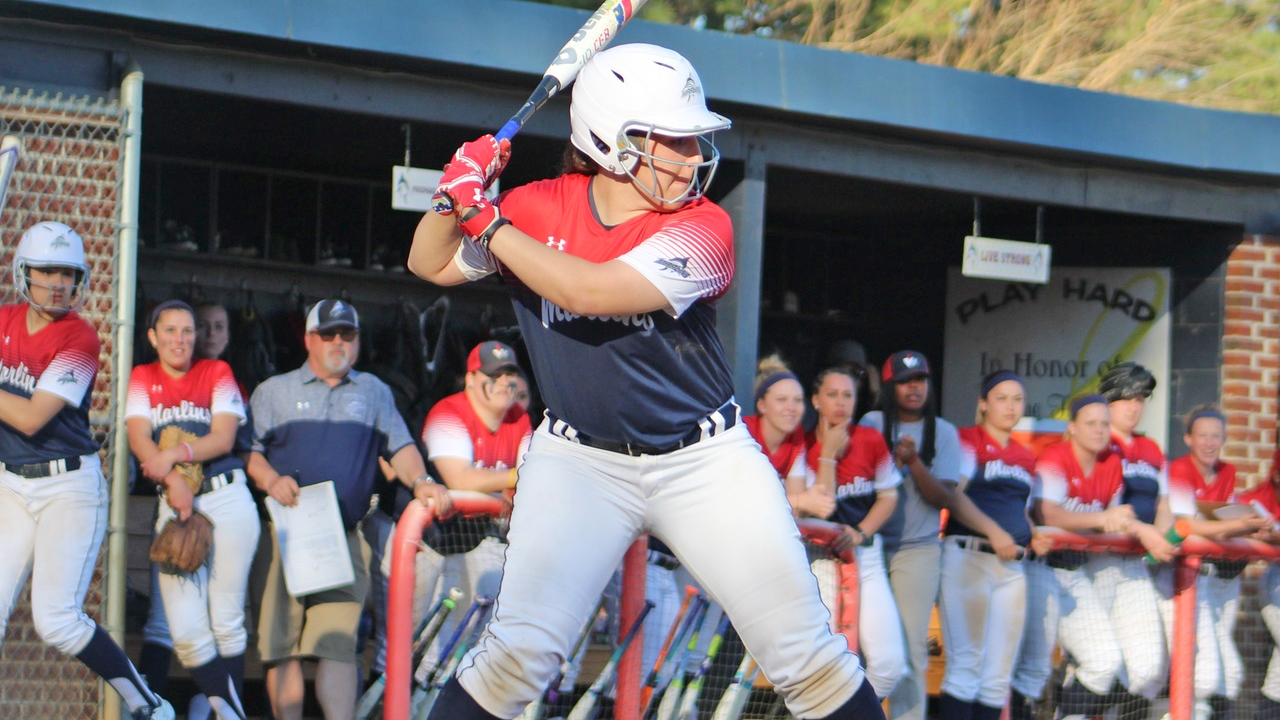 Teresa Cardamone hit one of Virginia Wesleyan's four homeruns in the Marlins' 9-0 regional championship victory over Randolph-Macon on Monday.