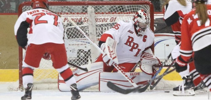 Lovisa Selander Saves 58 in RPI's 1-0 Win Over Robert Morris