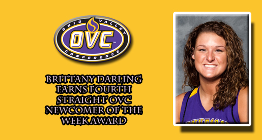 Darling earns OVC Newcomer of the Week award