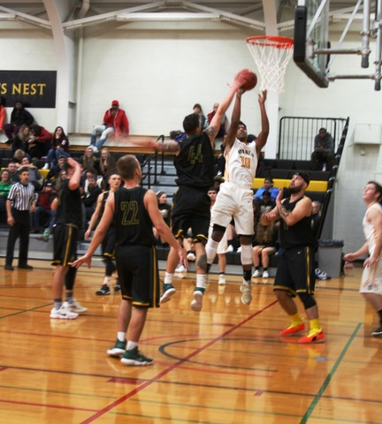 Broome player going up for a layup