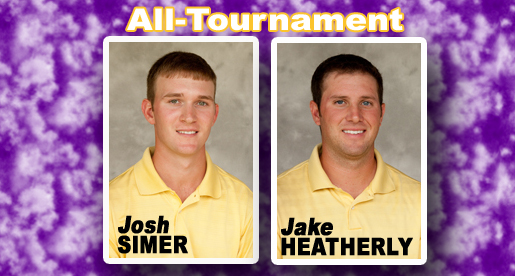 Simer, Heatherly all-tournament, Golden Eagles fifth at North Alabama Spring Classic