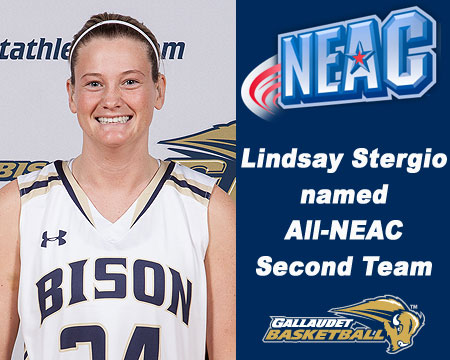 Gallaudet's Lindsay Stergio named to All-NEAC second team