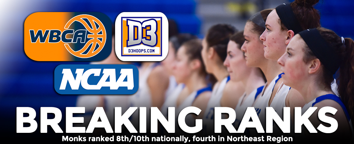 Women's Basketball Ranked 8th/10th Nationally, Fourth in Northeast