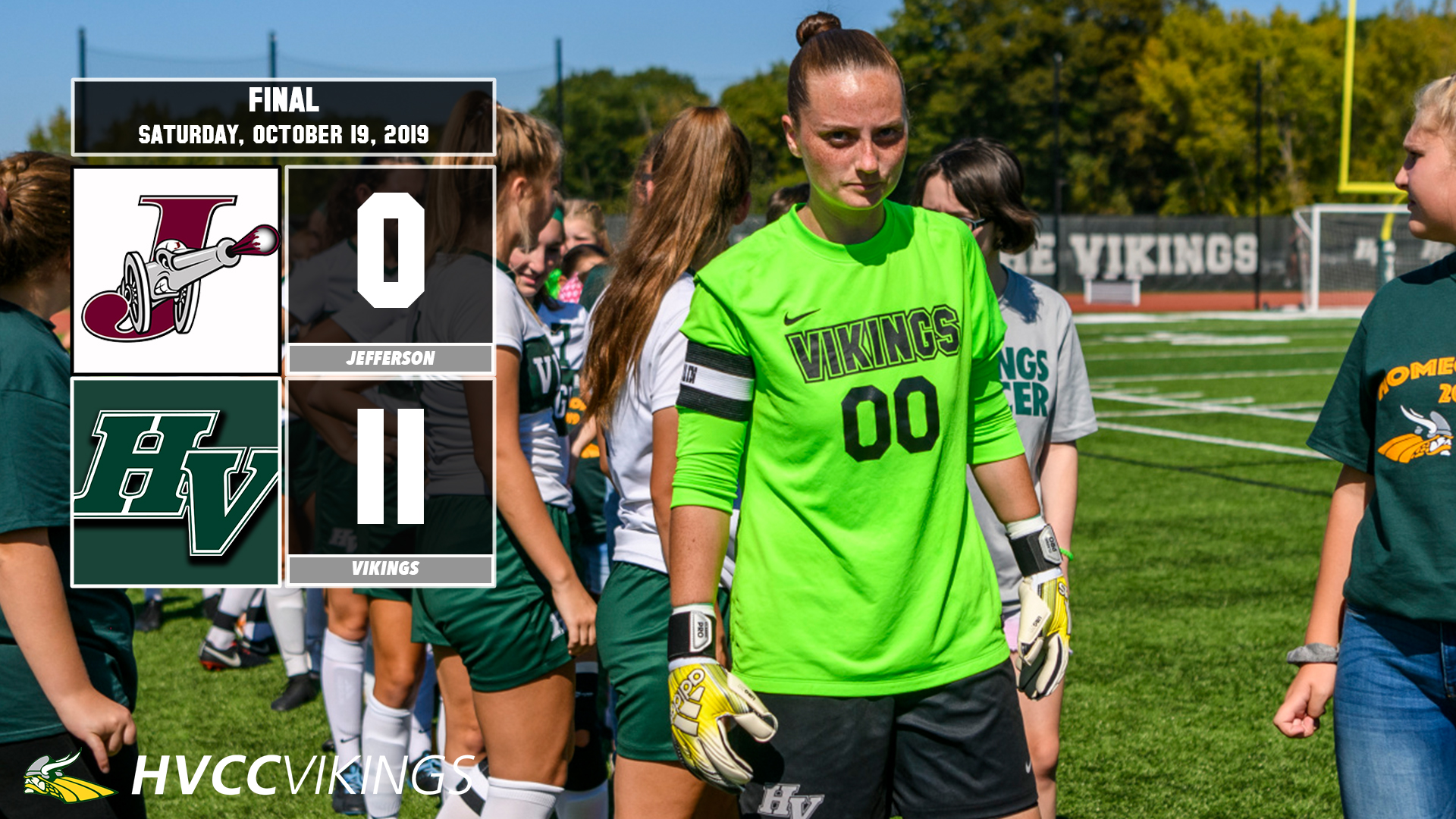 Women's soccer defeated Jefferson 11-0 on Oct. 19, 2019.
