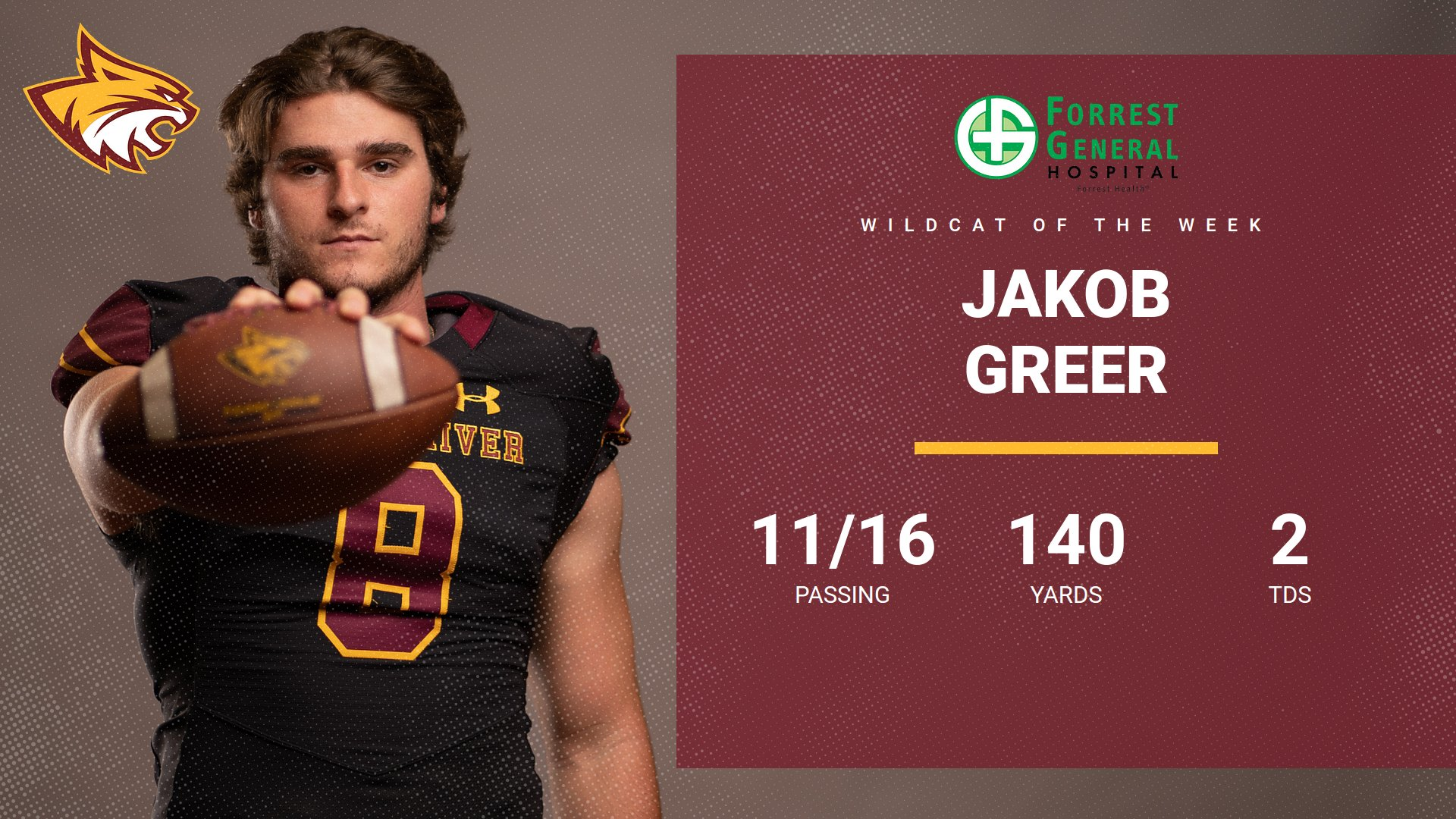 Pearl River's Jakob Greer named Forrest General Wildcat of the Week