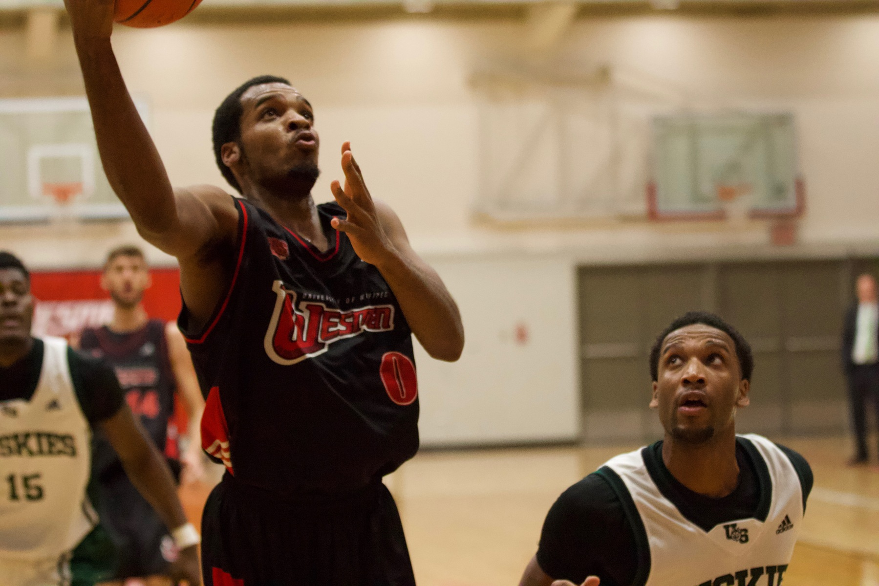Sean Tarver had 20 points to lead the Wesmen to a win over the Trinity Western Spartans on Saturday in Langley, B.C. (David Larkins/Wesmen Athletics file)