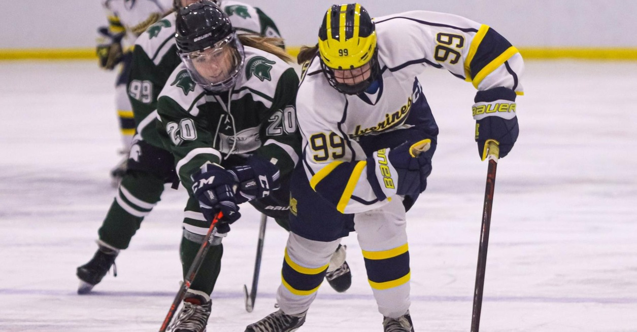 Garbacik's two goals lift Wolverines to sweep of Spartans