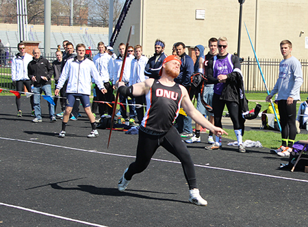 Arkin, Rosenbaum lead Men's Track & Field on day one of the OAC Outdoor Championships