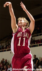 Gruening Leads Women's Basketball to Victory