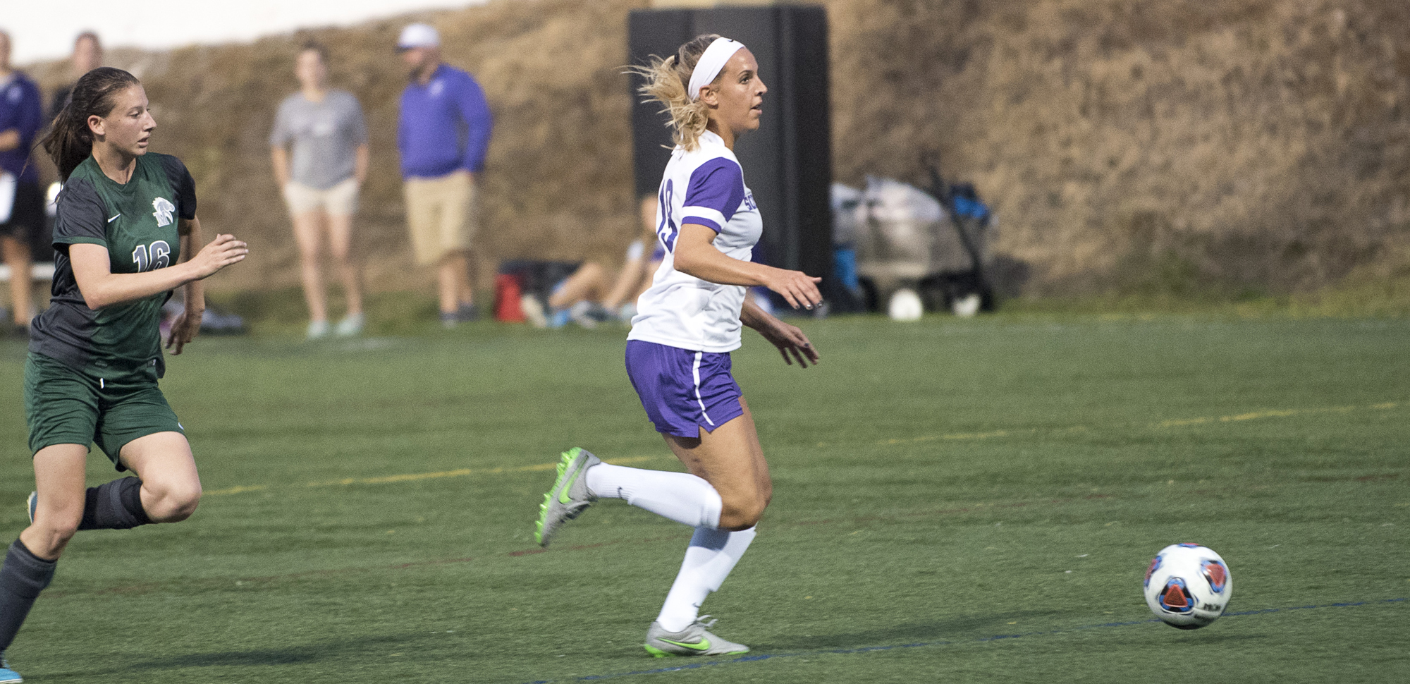 Senior Jamie Hreniuk scored four goals over the weekend as the Royals opened the season with a pair of wins.