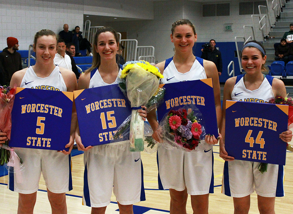 Women's Hoops Takes Down Bridgewater on Senior Night