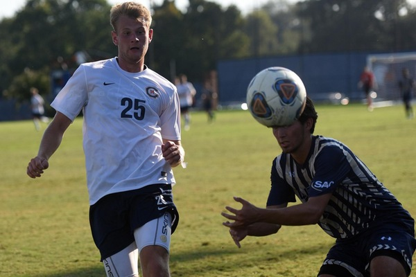 Karlsen hat trick pushes No. 25 Eagles to 3-0 win