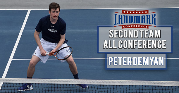 Peter Demyan '19 named to the Landmark All-Conference Men's Tennis Second Team in singles