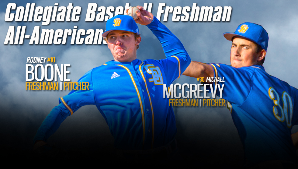 Boone, McGreevy Named Collegiate Baseball Freshmen All-Americans