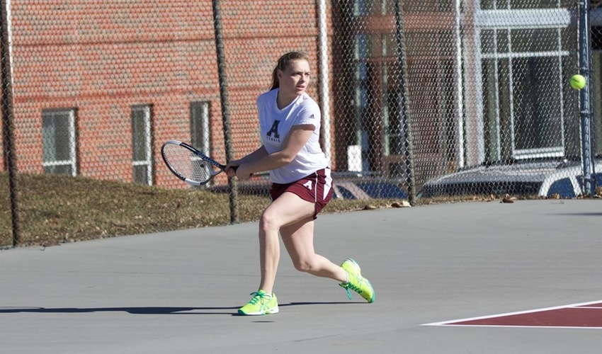 Women's tennis falls to Huntington at home
