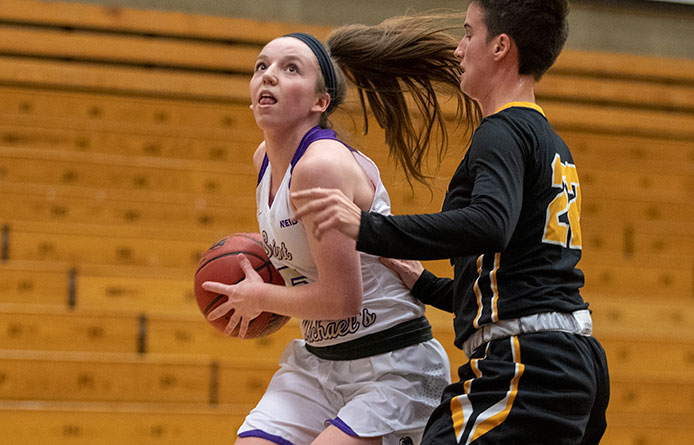 Women's Basketball Falls in NE10 Road Affair at American International